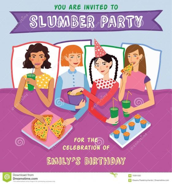 Convite do aniversário do partido de descanso com ilustração