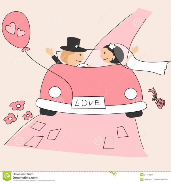 Convite do casamento ilustração do vetor  ilustração de cartoon