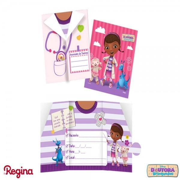 Convite doutora brinquedos • 8un  • regina