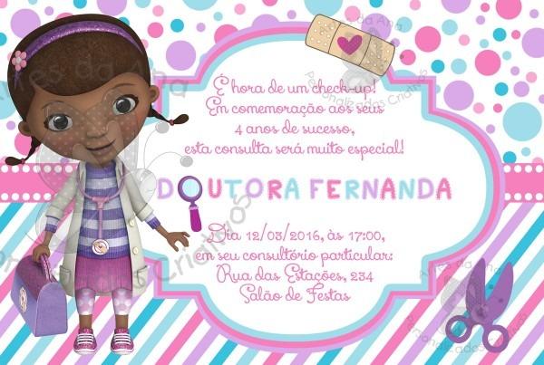 Convite doutora brinquedos no elo7