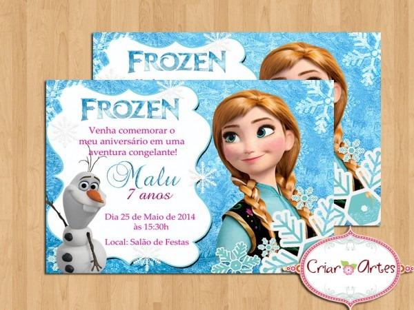 Convite frozen anna no elo7