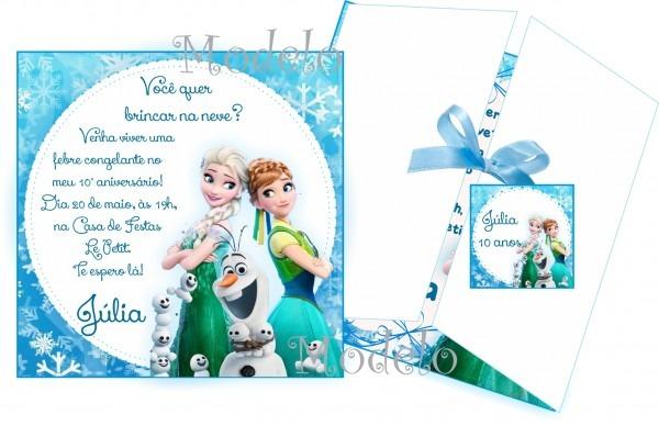 Convite frozen ii no elo7
