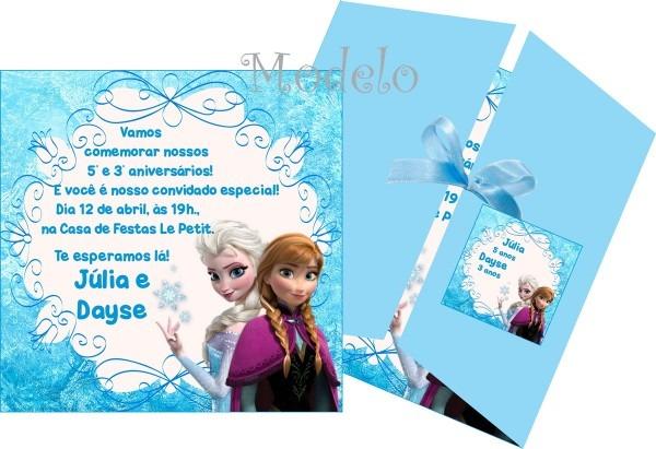 Convite frozen no elo7