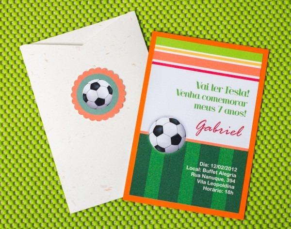 Convite de aniversário infantil futebol no elo7
