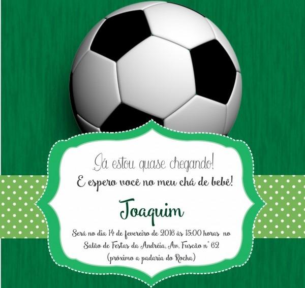 Convite festa de aniversario futebol em rj
