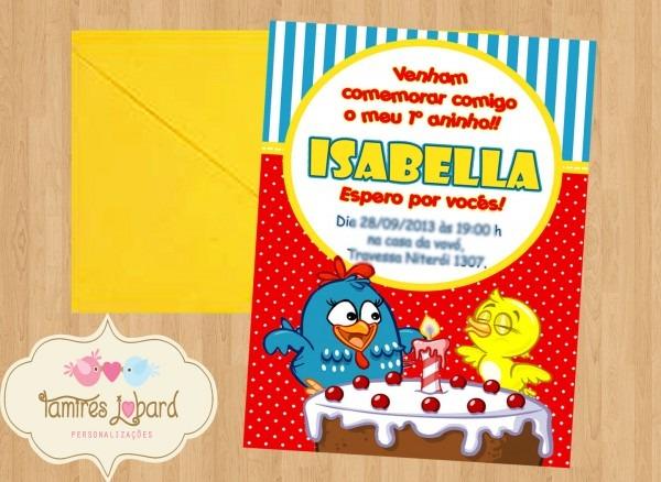 Convite galinha pintadinha 2 no elo7