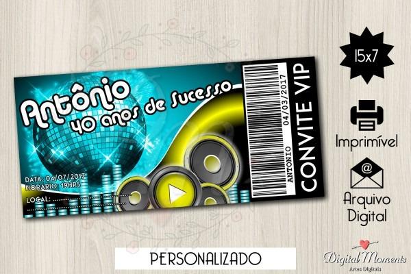 Convite ingresso digital balada no elo7