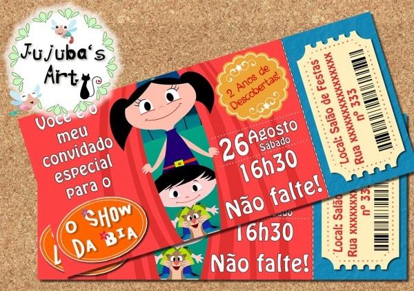 Convite ingresso show da luna frete grátis no elo7
