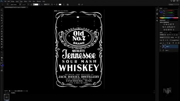 Convite jack daniels novo de how to make logo in photoshop quick