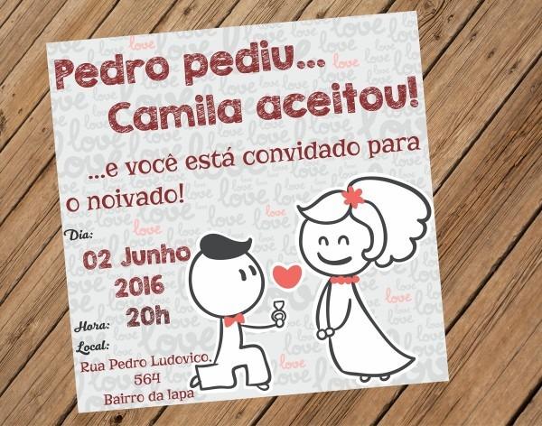 Convite noivado love