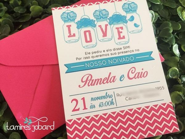 Convites azul e rosa em sp