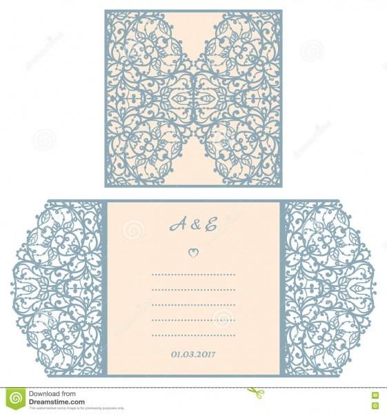 Convite ou cartão do casamento com ornamento abstrato molde do