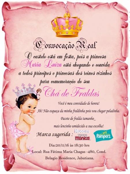 Convite pergaminho chá de bebê no elo7