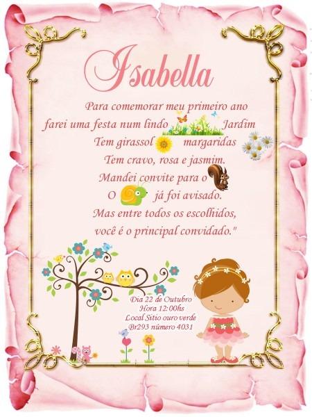 Convite pergaminho jardim,floral,borboletas no elo7