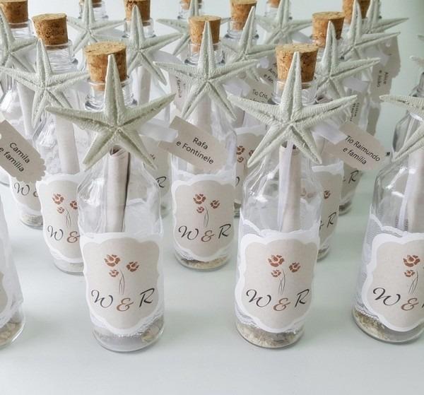 Convite na garrafa no elo7