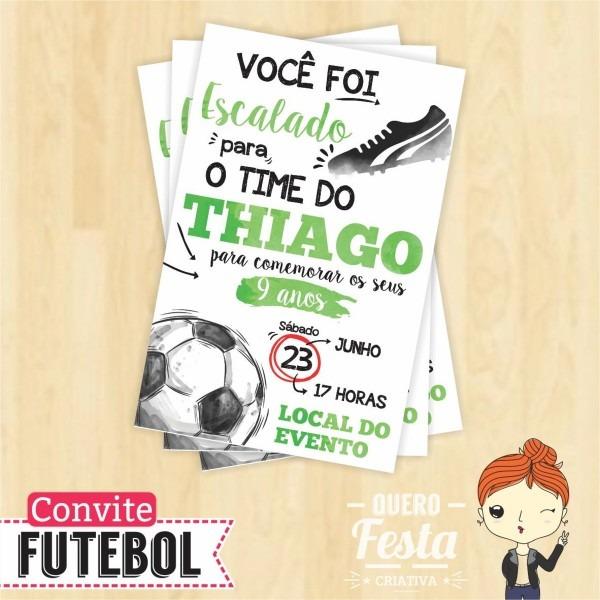 Convite personalizado futebol no elo7