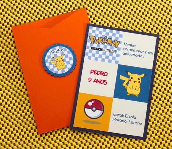 Convite de aniversário infantil pokemon no elo7
