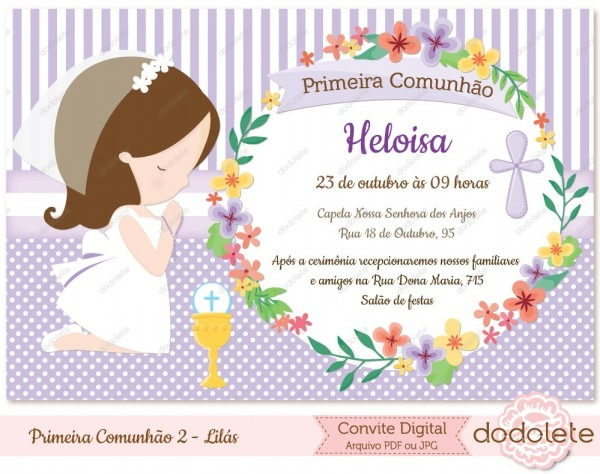 Convite primeira comunhão 2