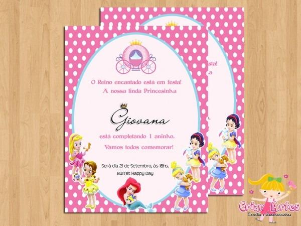 Convite princesas disney baby