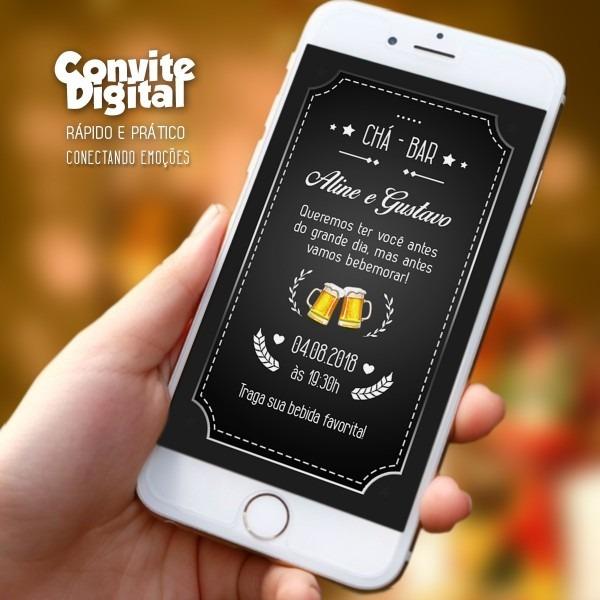 Convite virtual chá de bar convite digital