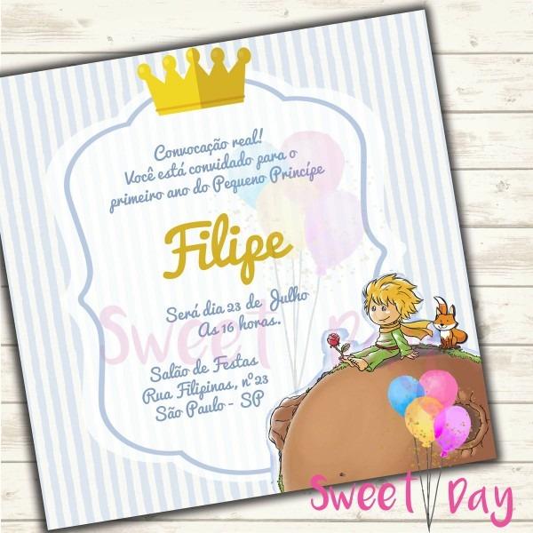 Convite virtual pequeno príncipe no elo7