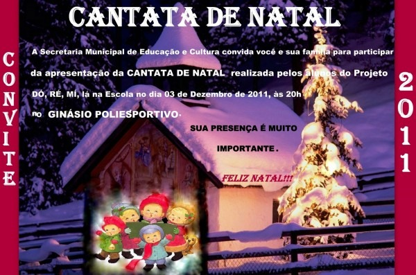 Convite cantata de natal ~ semec