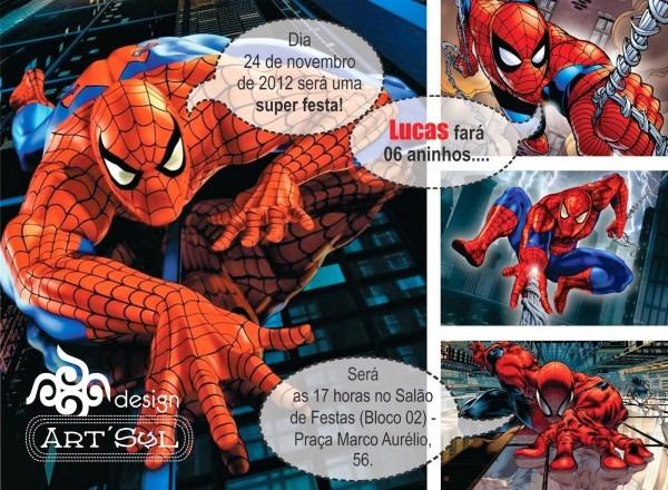 Art'syl design gráfico  convite infantil homem aranha