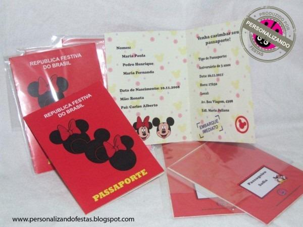 Personalizando festa  convite estilo passaporte