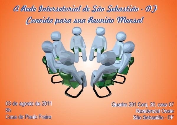 Blog da rede  convite para reunião mensal da rede intersetorial de