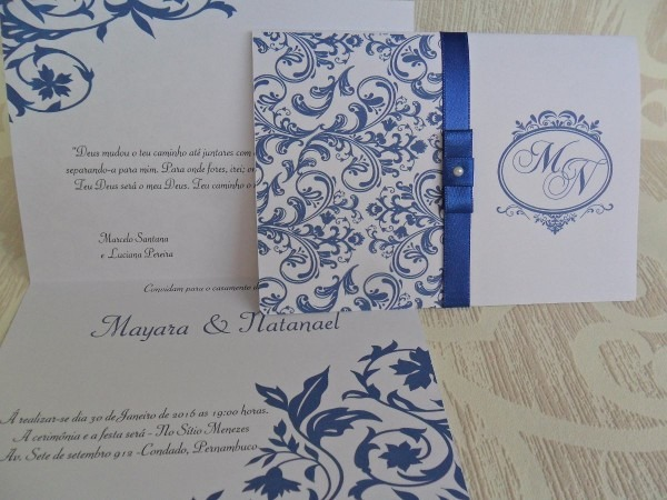 Convites de casamento arte digital
