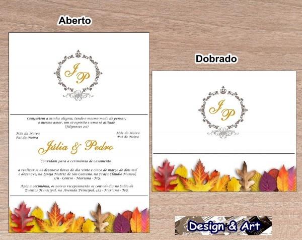 Convites de casamento + convites individuais grátis! no elo7