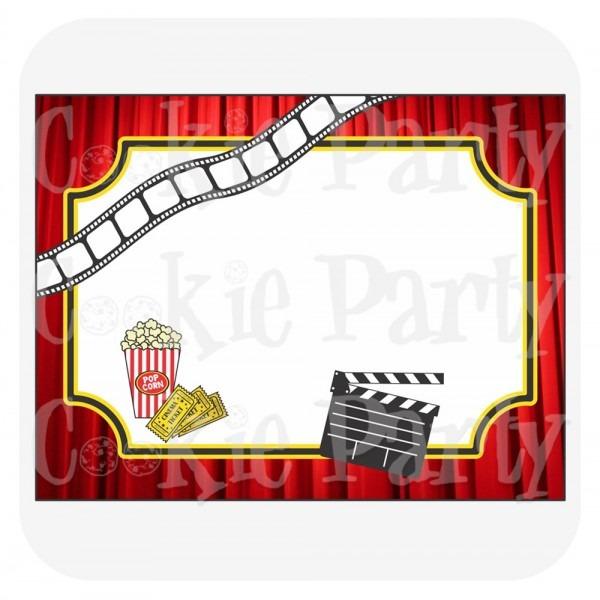 Convites festa cinema pdf no elo7