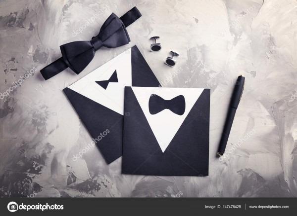 Convite de cartão de casamento gay — fotografias de stock