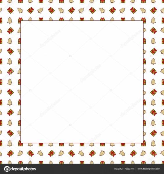 Moldura de natal com padrão  modelo vazio para cartão ou convite
