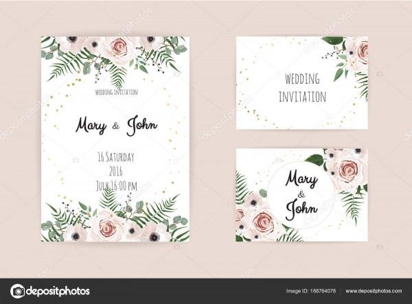 Convite vetor com elementos florais feitos mão cartoes convite
