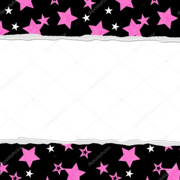 Fundo estrela rosa para a sua mensagem ou convite — stock photo