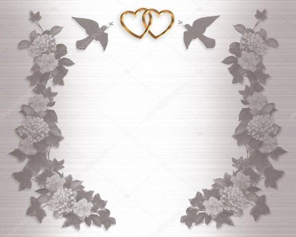 Pombos de fundo de convite de casamento — stock photo © irisangel