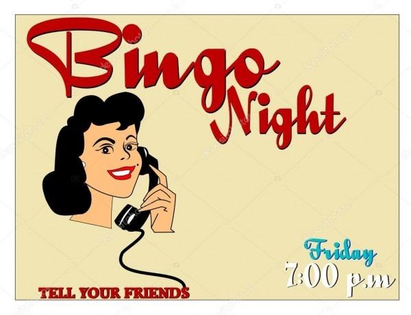 Convite noite de bingo — vetores de stock © retroartist  26053775