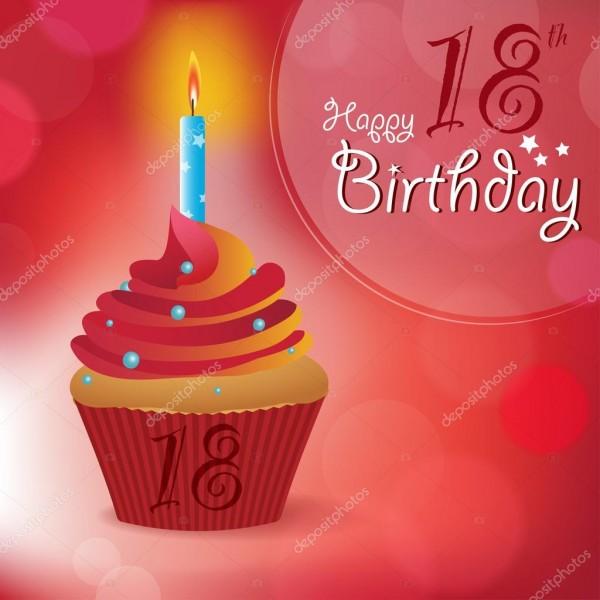 Mensagem de feliz aniversário de 18 anos saudação, convite