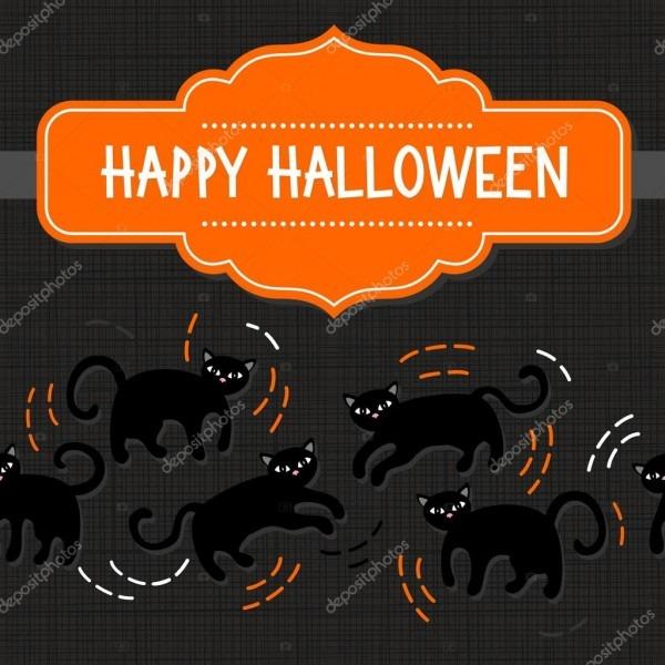 Padrão sem emenda de gatos pretos animal doméstico no cartaz de