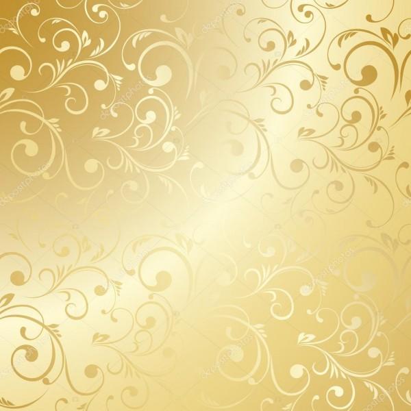 Papel de parede floral luxo dourado — vetor de stock ©