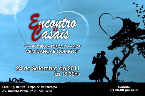 Igreja batista tempo de restauraÇÃo  encontro de casais 2011