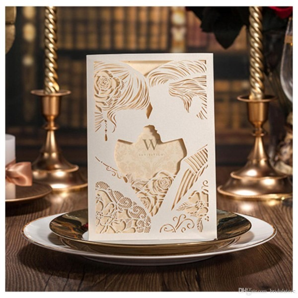 Convites casamento preço engraçado noivas e noivo fotos laser cut