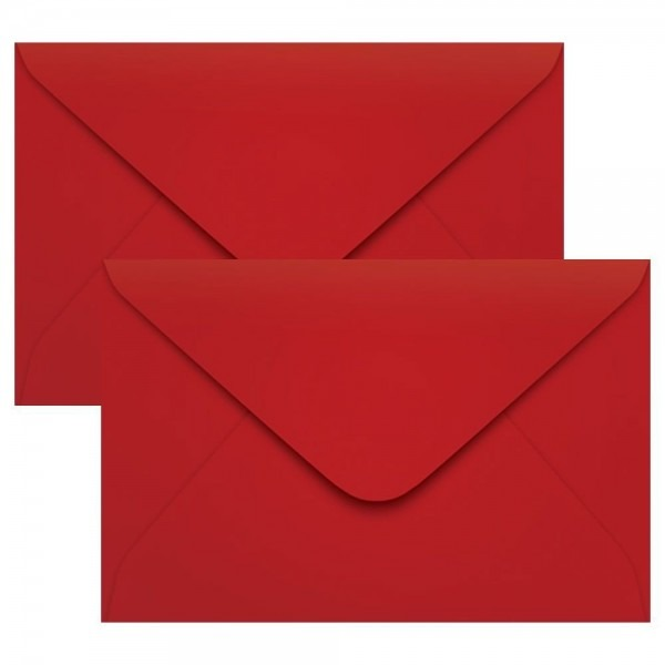 Envelope para convite de casamento vermelho 160x235mm 100un
