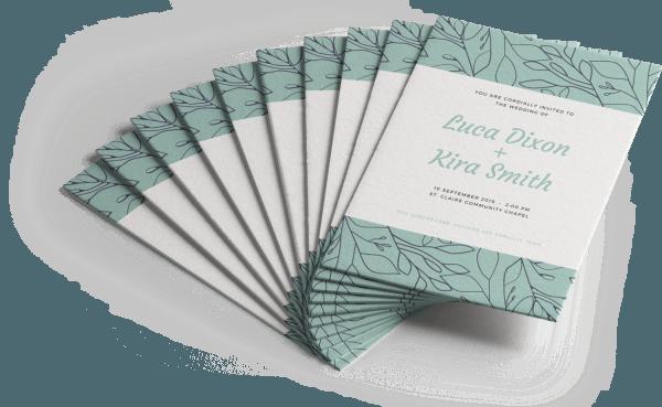 Imprimir convite de casamento
