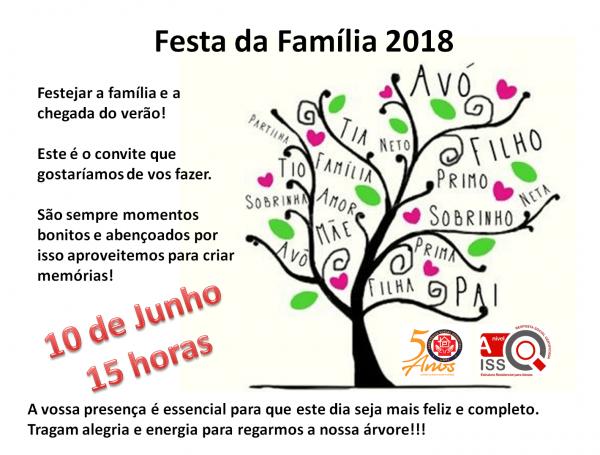 Festa da família 2018 – convite