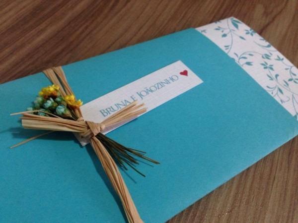 Convite de casamento floral azul tiffany ♥ spazio convites