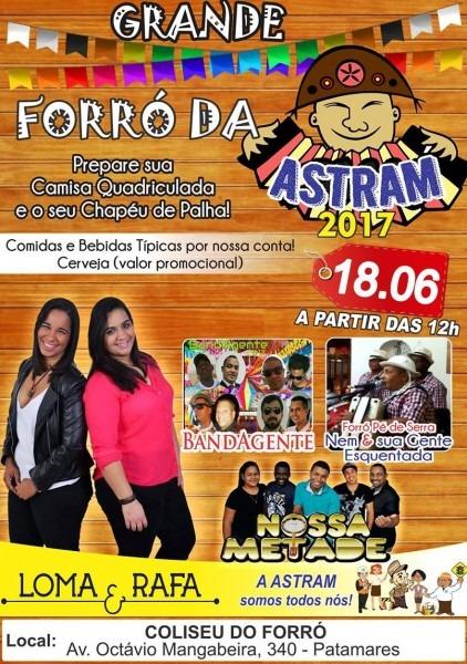 Astram  convite  forró da astram 2017