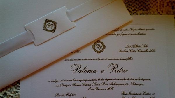 Fotos comprar convite de casamento em bh para tradicional luxo no