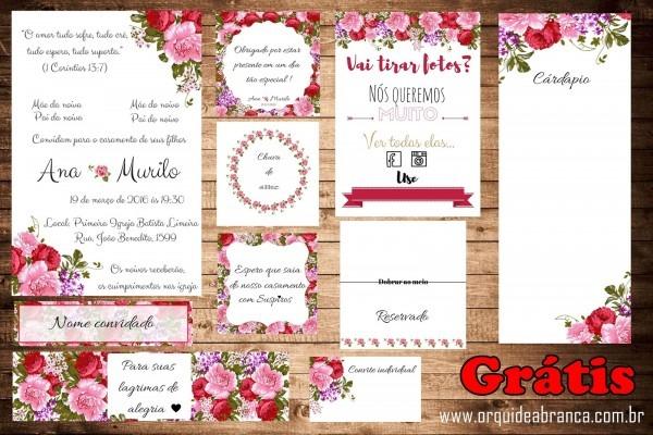 Kit papelaria casamento morsala e rosa